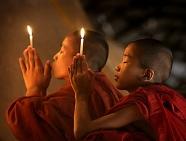 Monks In Burma