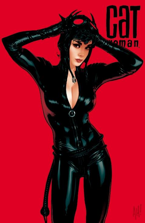 sexy catwoman art print by marvel comics artist adam hughes