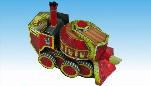 Steam Tank -Steampunk Papercraft Model