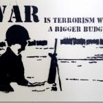 War is Terrorism – Street Art