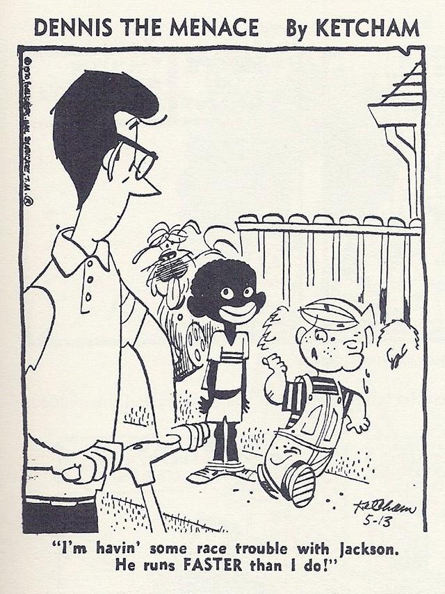 Dennis The Menace Racist Comic Strip