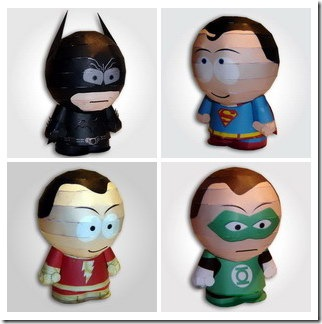 Batman_Superman_Captain Marvel_Green Lantern