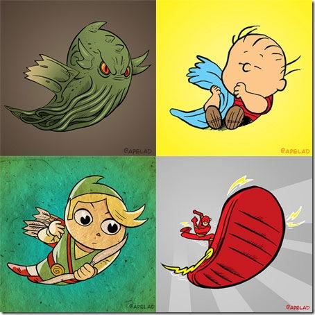 Cthulhu-Flash-Linus-Legend-of-Zelda-Twitter