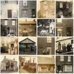 Vintage Photographs of People Standing Outside Their Homes