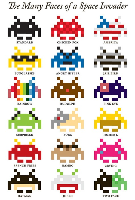 The_Many_Faces_Of_a_Space_Invader