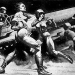 Battlestar Galactica Illustration by Frank Frazetta