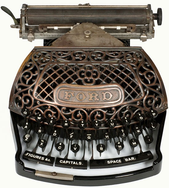 a lovely antique ford typewriter from martin howard 39 s collection. Black Bedroom Furniture Sets. Home Design Ideas