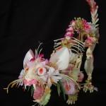 Cedric Laquieze's Flower Animal Skeleton Sculptures
