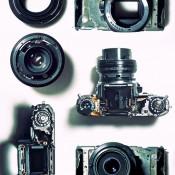 Disassembled Camera