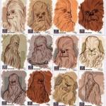 Chewbacca Sketch Cards