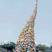 A 36 Foot Tall Twister Made of Garbage