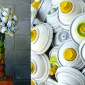 Flower Bouquets Made With Discarded Spray Cans