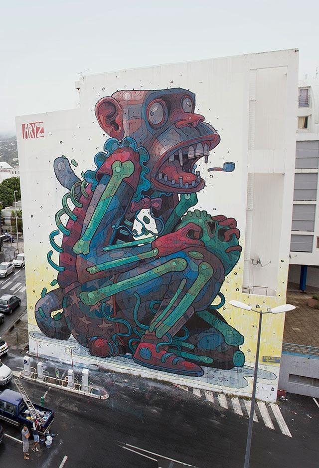 Monkey-Business-Aryz-Street-Art