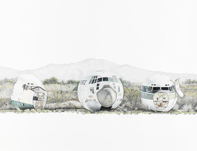Paul-White_South-Tucson-Daybreak_90-x-190-cm
