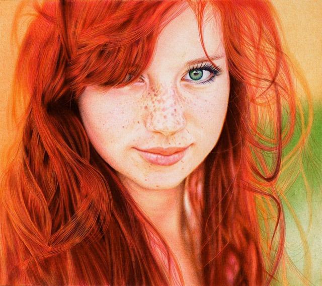 Redhead-Girl-Ballpoint-Pen-by-Vianaarts