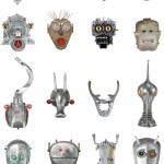 Tal Avitzur's Robot Heads Made From Retro Junk
