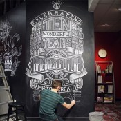 Nathan Yoder's Hand Lettered Chalk Typography