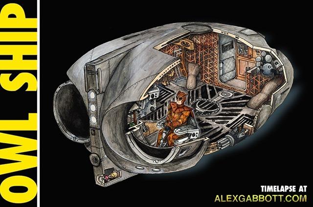 Watchmen-Owl-Ship-by-Alex-Gabbott