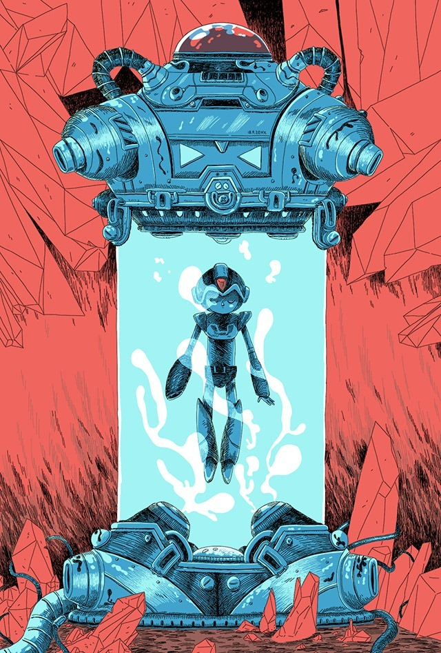 Mega-Man-X-Illustration-by-Zac-Gorman