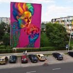 A 4 Story High Street Art Mural by Natalia Rak