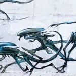 Aliens Mural by Jim Vision & Dr Zadok