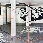 Joerg Mandernach's Anamorphic Tape Art Sculpture