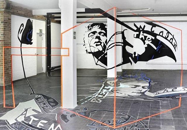 Joerg-Mandernach-Drawing-Room-Anamorphic-Tape-Art-Sculpture