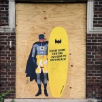 Humorous Action Figure Street Art by Crummy Gummy