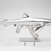 Shark-Gun-stainless-steel-sculptures-by-Chris-Schulz-Blue-AK_2_thumb