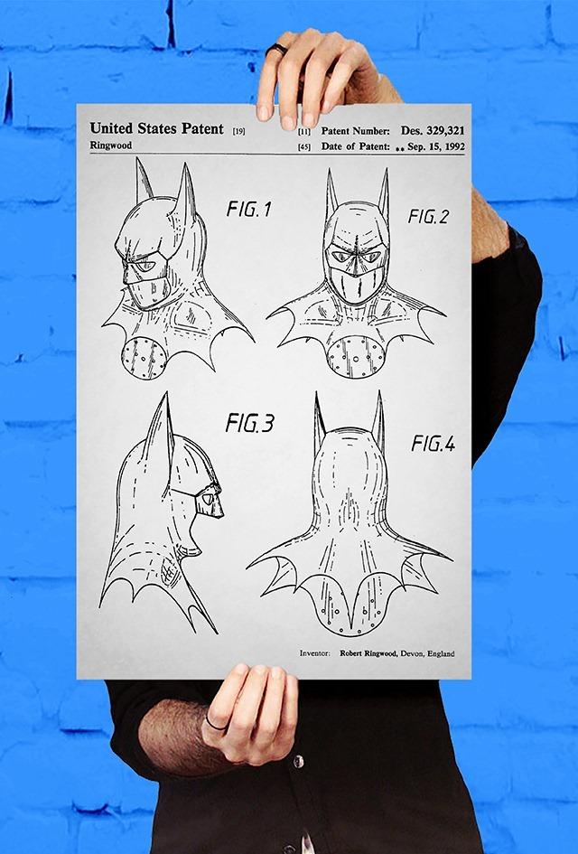 Batman-Headdress-Patent-Print-by-Jason-Stanley