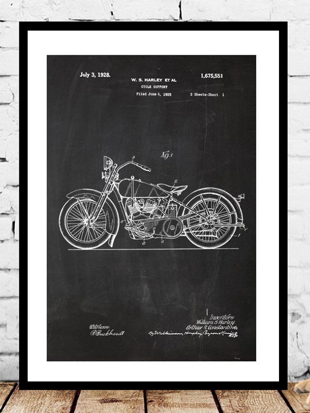 Harley-Davidson-Patent-Print-by-Jason-Stanley