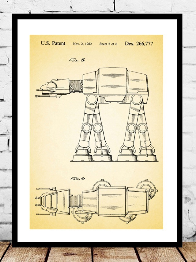 Imperial-AT-AT-Walker-Toy-Patent-Print-by-Jason-Stanley