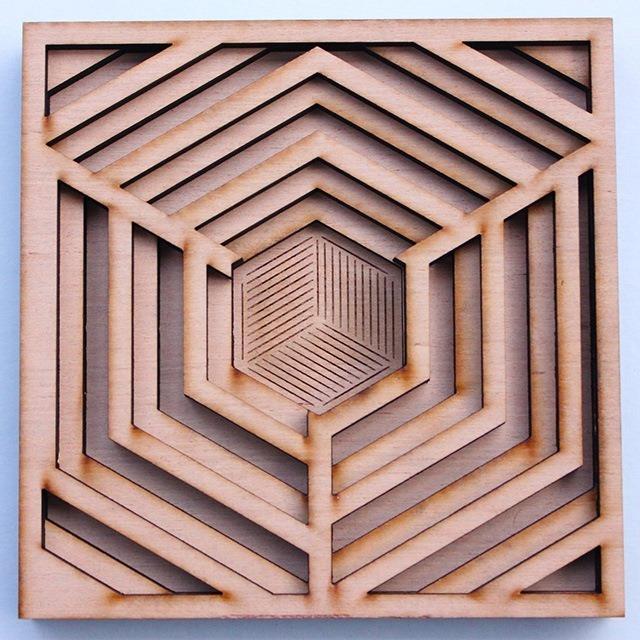 Laser Cut Wood Art by Ben James 01