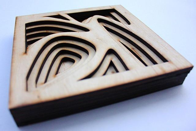 Laser Cut Wood Art by Ben James 10