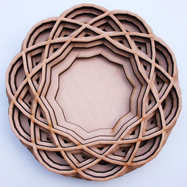 Laser Cut Wood Art by Ben James 11