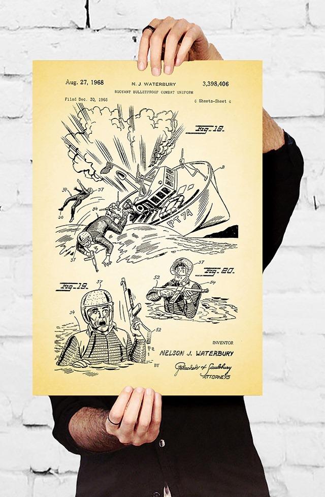NJ-Waterbury-Buoyant-Bulletfproof-Combat-Uniform-Patent-Print-by-Jason-Stanley
