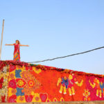 Olek Beautifies Homeless Shelter with Colorful Crocheted Yarn