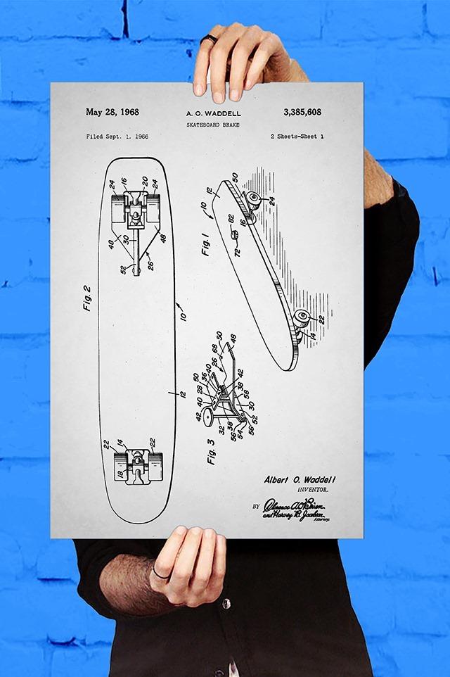 Skateboard-Brake-Patent-Print-by-Jason-Stanley