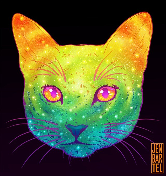 Galactic-Cats-Illustrations-by-Jen-Bartel-03
