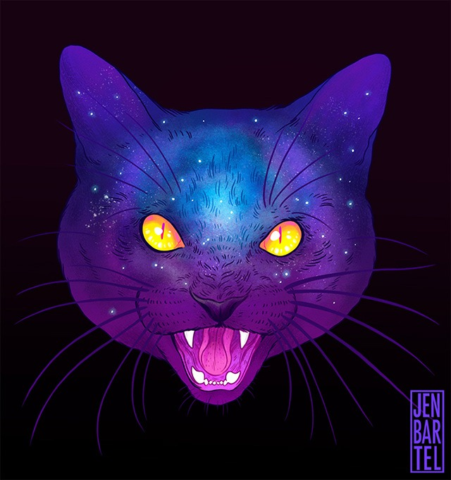Galactic-Cats-Illustrations-by-Jen-Bartel-08