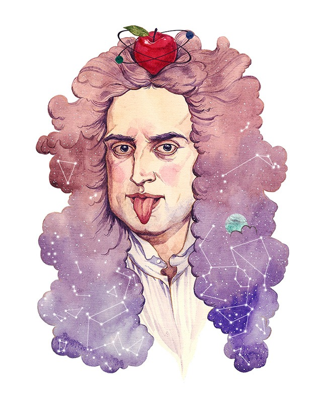 Asya-Lisina-Isaac-Newton-Illustration