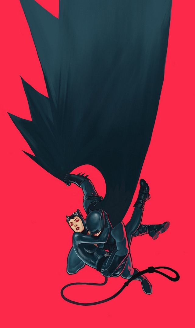 Batman and Catwoman Illustration by Qis