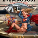 DC Comic Book Covers Drawn in The Style of Norman Rockwell Illustrations