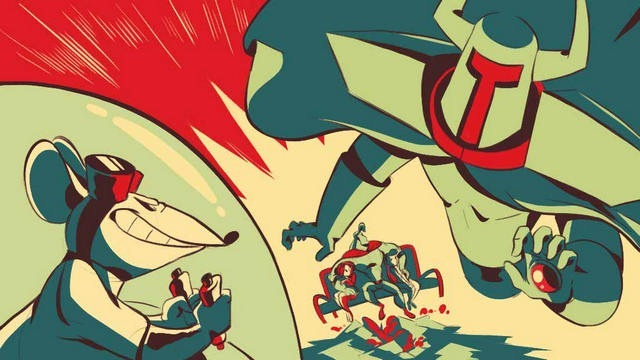 Credit images in the artistic style of Michael Cho by Elena Manetta 1