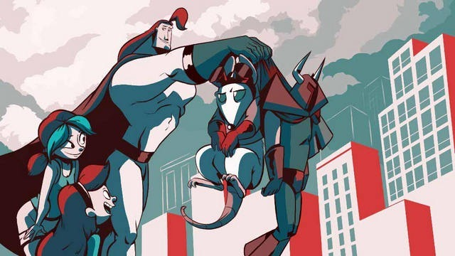 Credit images in the artistic style of Michael Cho by Elena Manetta 8