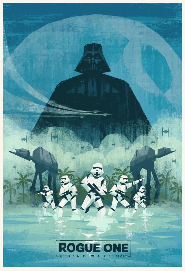 Star Wars Rogue One Poster Travis Ruiz