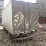 Incredible Dirt Art Created on Trucks by Nikita Golubev