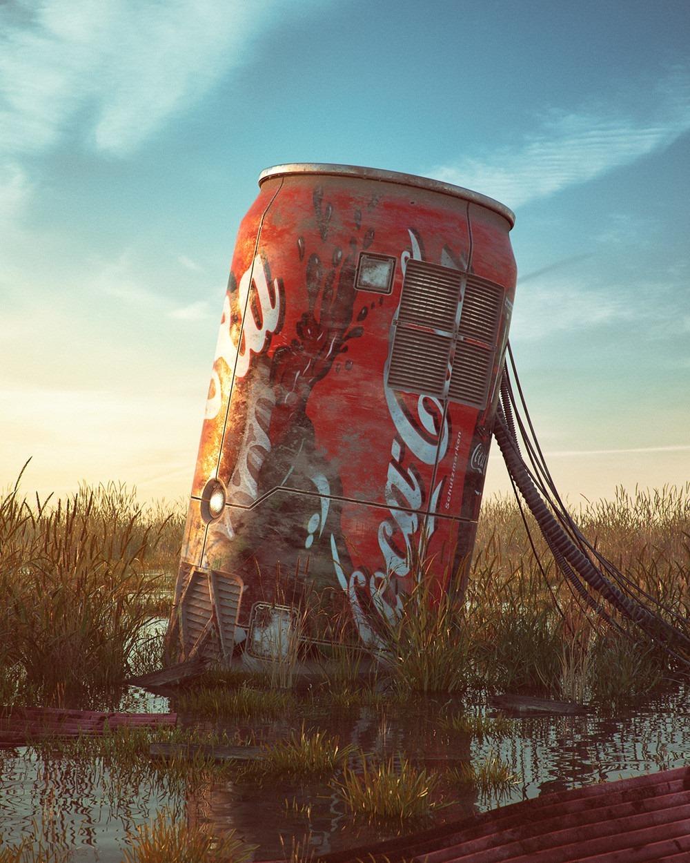Coke Can Pop Culture Dystopia Filip Hodas