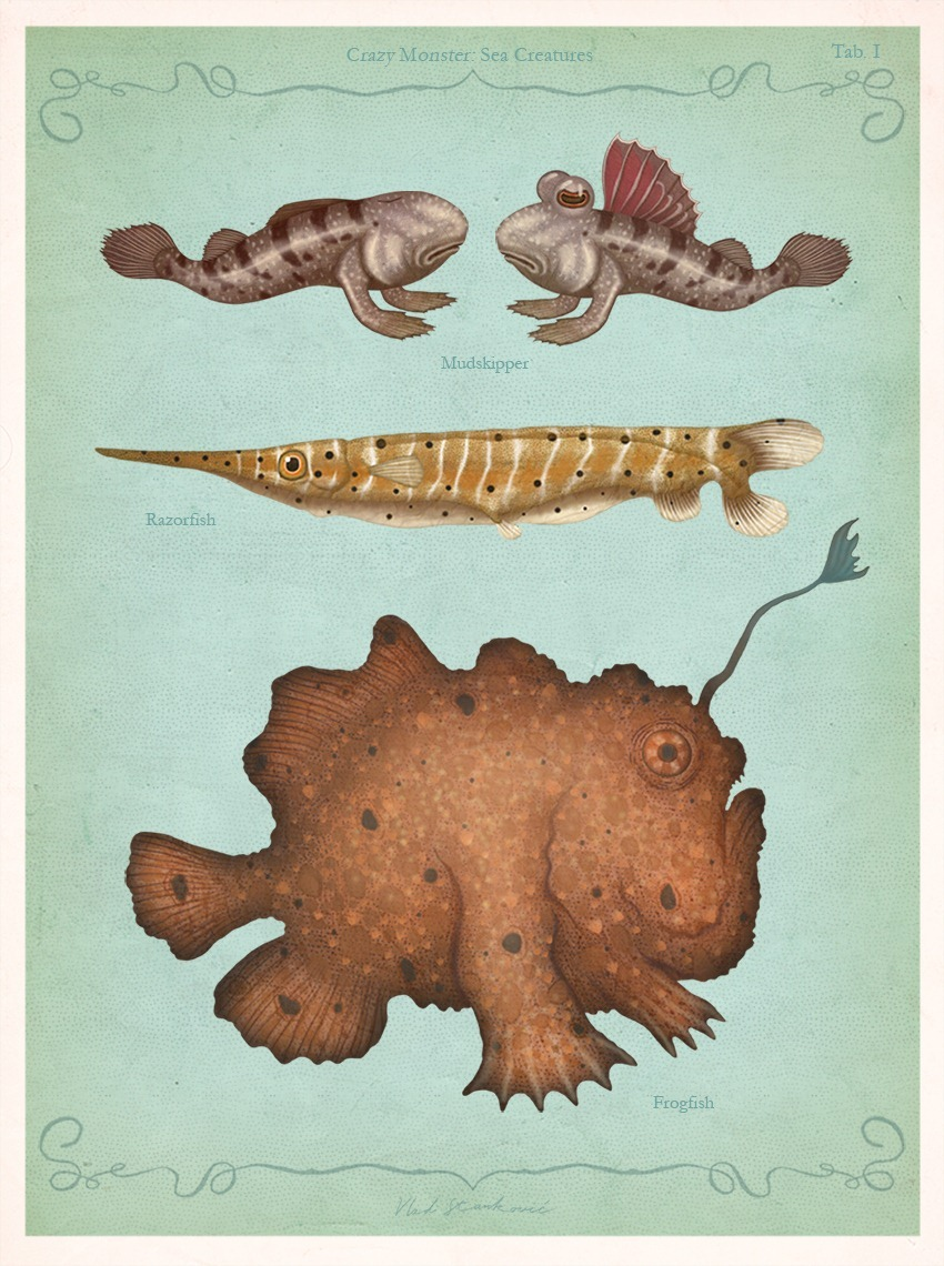 Crazy Monster Sea Creatures Illustrations by VLAD stankovic 01
