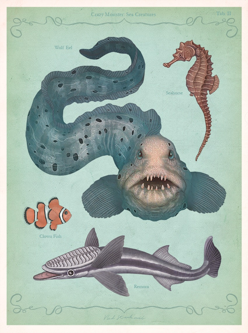Crazy Monster Sea Creatures Illustrations by VLAD stankovic 02
